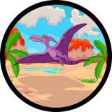Vôo dos desenhos animados do Pterodactyl Fotos de Stock