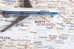 Vôo a Italy foto de stock royalty free