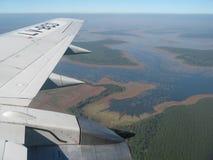 Vôo sobre o delta Fotografia de Stock