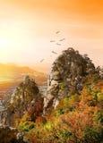 Vögel über dem Tal von Geistern Stockfoto