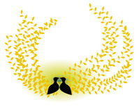 Vögel in der Liebe Lizenzfreies Stockfoto