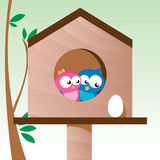 Vögel in der Liebe Lizenzfreie Stockbilder