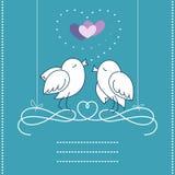 Vögel in der Liebe lizenzfreie abbildung