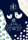 Vögel in der Liebe in den Völkern Vektor Abbildung