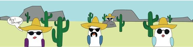 Vögel in der Wüste stockbilder
