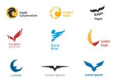 Vögel, die Symbolvektorsatz einbrennen stock abbildung