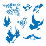 Vögel eingestellt Lizenzfreies Stockbild