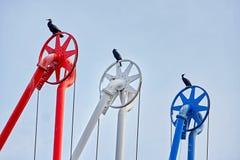 Vögel im Hafen Lizenzfreies Stockfoto
