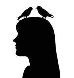 Vögel im Kopf Stockbilder