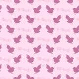 Vögel und Anmerkungsmuster Lizenzfreie Stockbilder