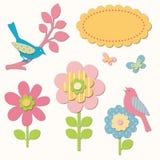 Vögel und Blumen Lizenzfreie Stockfotografie