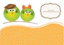 Vögel verbinden in der Liebe stock abbildung