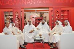 Völker an Abu Dhabi International Hunting und an der Reiterausstellung (ADIHEX) Lizenzfreies Stockfoto