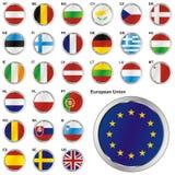 Völlig editable vektorabbildung der Markierungsfahnen von EU Lizenzfreie Stockfotografie