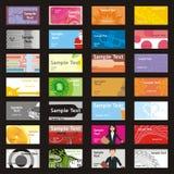 Völlig editable vektorbesuchskarten mit unterschiedlichem L Stockfoto