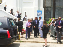 Vördnadsvärda Jesse Jackson på begravningen för Cynthia Hurd Royaltyfri Bild