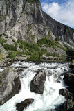 The Vøringfossen Waterfall. In Norway Royalty Free Stock Image