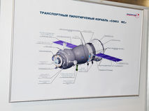 以V命名的宇宙航行学博物馆 P Glushko 图库摄影