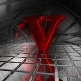 v在未来派空间 免版税库存照片