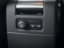 12V电源输出口插口 免版税库存照片
