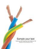 220v电缆电欧洲力量类型 免版税库存照片