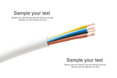 220v电缆电欧洲力量类型 免版税图库摄影