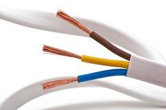 220v电缆电欧洲力量类型 库存照片