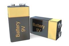 9v μπαταρίες Στοκ εικόνες με δικαίωμα ελεύθερης χρήσης
