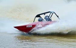 V-8超级小船快艇赛跑的高速新西兰 免版税库存照片