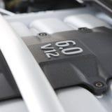 V 12 Engine. Europeon car engine V 12 6 litres Stock Photos