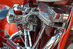V-2 bike engine Stock Photography