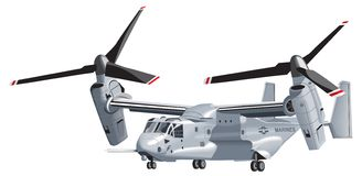 V-22 Osprey. Osprey V-22 helicopter. Vector image Royalty Free Stock Photo