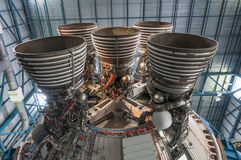 土星V型发动机 免版税库存照片