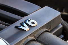 Двигатель V6 Стоковая Фотография