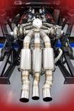 赛跑V-8孪生涡轮引擎的法拉利 库存照片