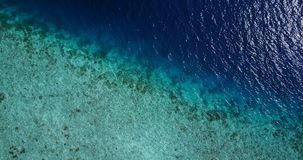 V06856 Aerial flying drone view of Maldives white sandy beach abstract waves water surface texture on sunny tropical stock video footage