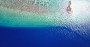 V06784 Aerial flying drone view of Maldives white sandy beach abstract waves water surface texture on sunny tropical Royalty Free Stock Photography