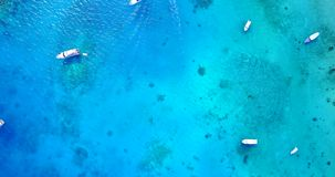 V03293 Aerial flying drone view of Maldives white sandy beach on sunny tropical paradise island with aqua blue sky sea. Aerial flying drone view of Maldives Stock Images