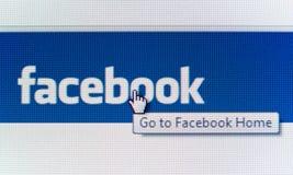 Vá ao Home Page de Facebook Fotografia de Stock