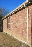 vägg för drainrør Arkivfoto