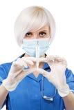 vänlig sjuksköterskawhite för bakgrund royaltyfria bilder