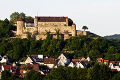 västra slottgermany södra stettenfels Royaltyfri Fotografi