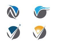 V calibre professionnel de logo de finances d'affaires de lettre Photos libres de droits