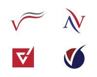 V calibre professionnel de logo de finances d'affaires de lettre Image libre de droits