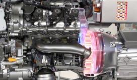 V6 car hybrid engine Royalty Free Stock Photography