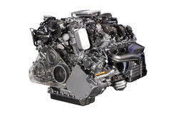 V6 car hybrid engine isolated Royalty Free Stock Photography
