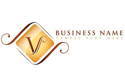 V_company name. A logo that can be used either for a company that for a spa or hotel, very vesatile Royalty Free Stock Image