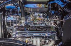 V-8 cromado Chevy Power Imagens de Stock