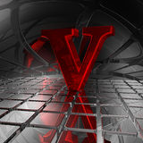 V dans l'espace futuriste Photos libres de droits