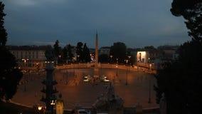 V in de nachtmening van Rome stock footage